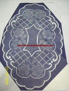os croches da Nela: centro de mesa