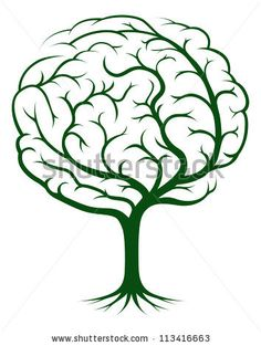 stock vector : Brain tree illustration, tree of knowledge, medical, environmental or psychological concept