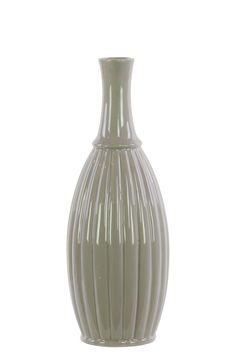 Ceramic LG Flower Vase Gloss White