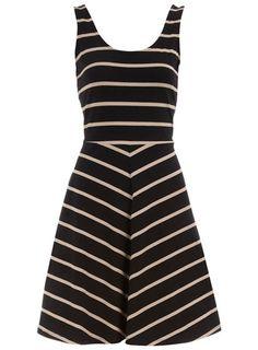 Black/stone sleeveless dress