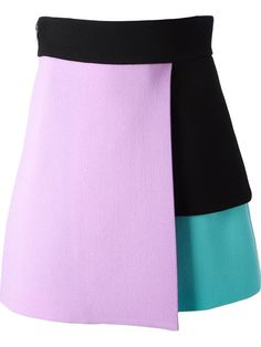 Shop Fausto Puglisi layered colour block skirt in Divo from the world's best… Fashion 2020, Runway Fashion, Fashion Outfits, Baby Pageant Dresses, Structured Fashion, Moda Chic, Outfit Trends, Straight Skirt, Cute Skirts