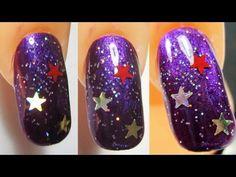 Easy nail art: The night of stars   #Nailart  Like,Repin Share :)