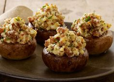 Sausage Stuffed Mushrooms. Great bite size appetizers for a party or to start off a special dinner.
