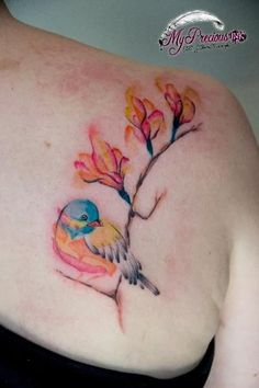 bird tattoo watercolor bird tattoo