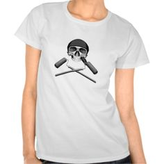 Skull and Paint Rollers Shirts