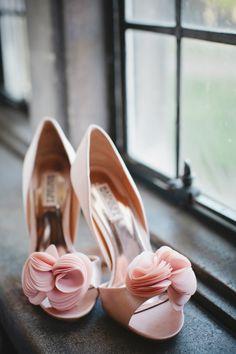 Pale Pink Bridal Heels