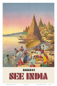 Banaras: See India, c.1940s Kunstdruk