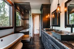 19 Peak Eight Circle - rustic - bathroom - denver - by Pinnacle Mountain Homes