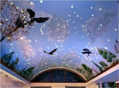 A illustrative ceiling design Sky Ceiling, Ceiling Design, Sky Design, Roofing Systems, Vintage Theme, Wonderland, Interior Design, Architecture, Projects