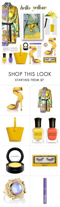 """Yellow it is"" by terry-tlc on Polyvore featuring Samuele Failli, Versace, Nico Giani, Deborah Lippmann, MAC Cosmetics, Ark and NYX"
