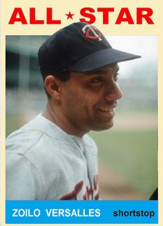 1964 Topps Zoilo Versalles All Star. Minnesota Twins. Baseball Cards That Never Were