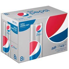 Diet Pepsi Original Soda - fl oz Sleek Cans Diet Pepsi, Pepsi Cola, Lunch To Go, Product Label, Soda, Canning, The Originals, Amanda, Products