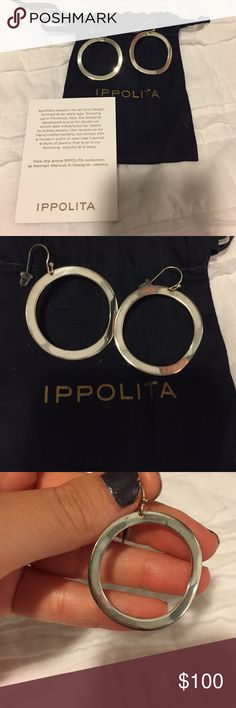 """Ippolita earrings """"Glamazon"""" sterling silver wavy open oval earrings NEVER WORN ‼️2.5 inches in length ippolita  Other"""