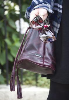 zatchels oxblood bucket bag leather made in uk