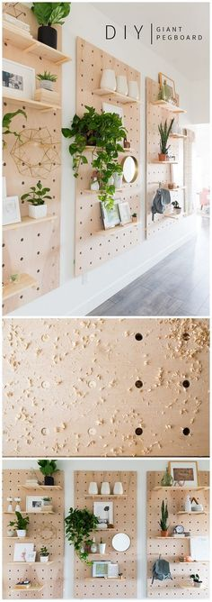 Check out this easy idea on how to make a #DIY giant pegboard #Scandinavian style #crafts #homedecor #project @istandarddesign