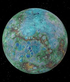 Tectonically Active Planet Mercury It's small, it's hot, and it's shrinking. New NASA-funded research suggests that Mercury is contracting even today, joining Earth as a tectonically active. Cosmos, Constellations, Planets And Moons, Dwarf Planet, Nasa Images, Sweet Revenge, Image Of The Day, Space And Astronomy, Outer Space
