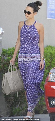 jordana brewster + dress