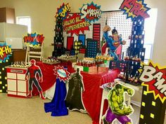 Avengers candy table