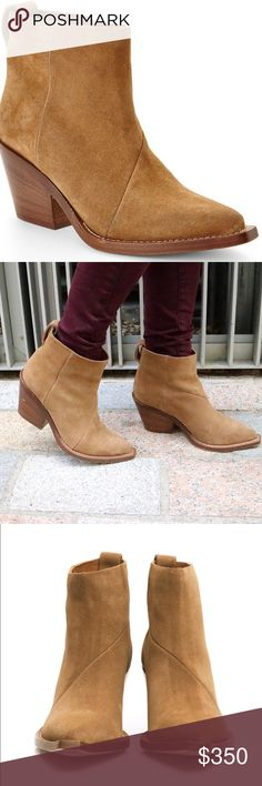 Acne Donna suede boots, tan, EU 37 Acne studios Donna suede booties in tan suede, worn prob less than 10 times, comes with original box and dust bags Acne Shoes Ankle Boots & Booties