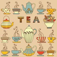 Tea Cups And Tea Pots ♡