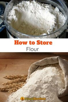 How To Store Flour, Canning Recipes, Jar Recipes, Freezer Recipes, Freezer Cooking, Drink Recipes, Yummy Recipes, Flour Storage, Non Perishable Foods