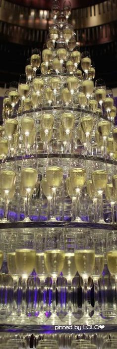 Champagne Tower at the Manderine Oriental, Hong Kong | LOLO