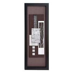 Woodland Imports 97502 Modern Wood Framed Art