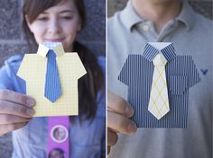 {Father's Day Printable} Cute DIY shirt cards.
