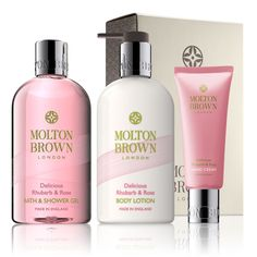 Molton Brown USA   Delicious Rhubarb & Rose Pamper Gift Set