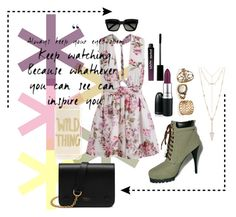 """""""Wild City Life"""" by musie-della ❤ liked on Polyvore featuring House of Harlow 1960, C Label, MAC Cosmetics, Mulberry, Sonix, Yves Saint Laurent, NYX and floral"""