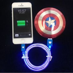 Captain America Shield Power Bank Portable Charger