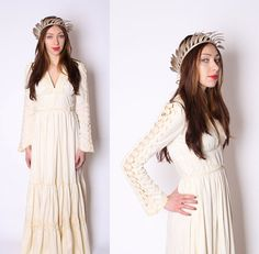 Gunne Sax / Crochet / wedding dress / Renaissance / by aiseirigh, $480.00