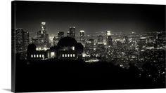 View of Los Angeles at night from the Griffith Park Observatory 72x38 $455.00