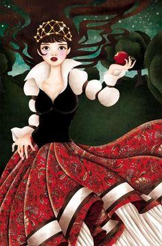 """Snowwhite"" by Tieneke Wolke--Ilike the art work on this one. Disney Love, Disney Art, Walt Disney, Snow White Art, Art Magique, Fairest Of Them All, Princesa Disney, Fairytale Art, Children's Book Illustration"