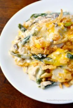Creamy Cheesy Chicken and Green Bean Casserole