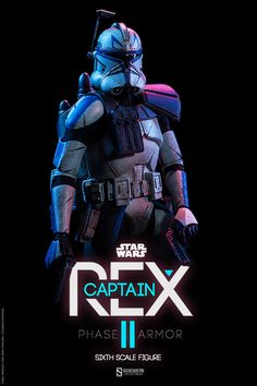 Captain Rex suits up in his Phase II armor - Star Wars Ewok - Ideas of Star Wars Ewok - Captain Rex Phase II Armor Sixth Scale Figure Star Wars Clones, Star Wars Clone Wars, Star Wars Pictures, Star Wars Images, Star Wars Fan Art, Star Citizen, Trajes Star Wars, Star Wars Wallpaper, Star Wars Birthday
