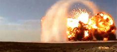 100 tons of TNT, one really cool explosion shock wave