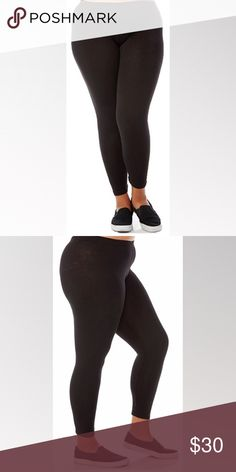Bundle of Four Plus Size Leggings Bundle of Four Plus Size Leggings. Plus Size Basic Black Leggings. Features- Solid color, skinny fit, pull over style, banded waist. Material- 95% Cotton, 5% Spandex. Run on small side, order one size up from your size. Please see sizely photos for approximate measurements of each size. Measured lying flat without stretching. Other colors and sizes available, bundle to save. Note- Price is final and only applies to this size and color. Pants Leggings