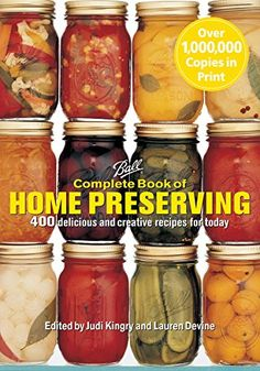 Ball Complete Book of Home Preserving by Judi Kingry. Ball Complete Book of Home Preserving. Features hundreds of user-friendly recipes with broad appeal. The Home Canning Problem Solver, which provides the answers to virtually any canning question. Canning Tips, Home Canning, Canning Recipes, Wine Recipes, Jelly Recipes, Jam Recipes, Easy Canning, Canning Process, Delicious Recipes