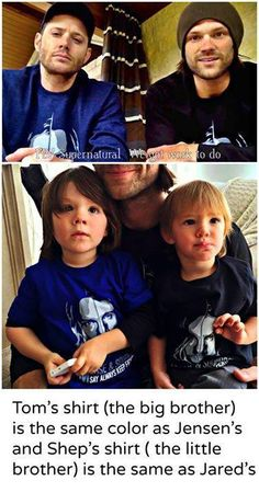 Maybe the Winchester Bro-shippers are onto something. It looks like Jared and Jensen had kids together.