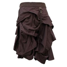 and got this. Short Brown Steampunk Skirt