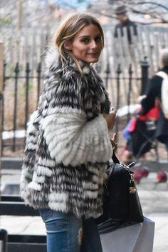 Olivia Palermo fur coat