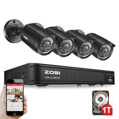 ZOSI 8CH CCTV System 8CH 720P DVR 4PCS 1.0MP IR Weatherproof Outdoor CCTV Camera 1280TVL Home Security System Surveillance Kits (2055709856)  SEE MORE  #SuperDeals