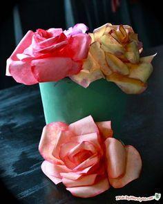 como fazer flores de filtro de cafe                              …