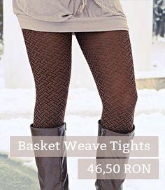Basket Weave Tights