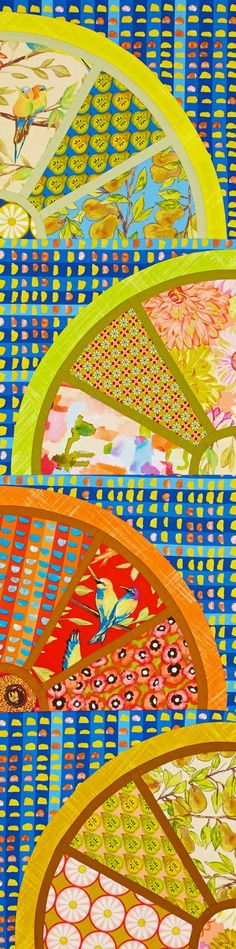 Citrus Squeeze Color Option by quilt tester Laura Boehnke using @mmillerfabrics.
