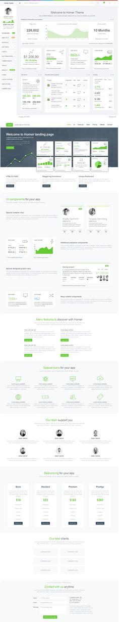 HOMER Admin Theme is a premium admin dashboard theme with flat design concept. It is fully responsive admin dashboard template built with Bootstrap Framework, and LESS, Media query, AngularJS, Grunt and Bower. It has a main collection of re Dashboard Interface, Analytics Dashboard, User Interface Design, Dashboard Template, Dashboard Design, Graphisches Design, Flat Design, Ui Components, Ui Design Inspiration
