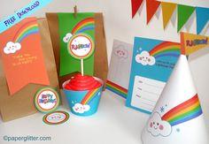 free rainbow party printables