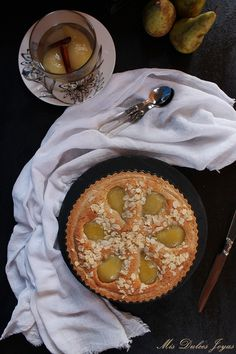 Tarta Bourdaloue - Mis Dulces Joyas Relleno, Bon Appetit, Nutella, Camembert Cheese, Dairy, Dessert, Food, Canela, Vanilla Ice Cream