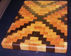 Walnut Cherry and Maple Butcher Block Cutting by CurlednBurled, $90.00